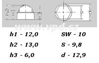 Krytka na matice a šrouby M 6