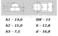 Krytka na matice a šrouby M 8