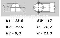 Krytka na matice a šrouby M 10