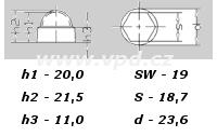 Krytka na matice a šrouby M 12