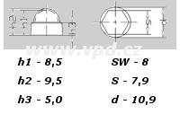 Krytka na matice a šrouby M 5