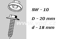 Krytka na šrouby a matice SW 10